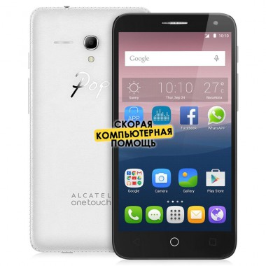 Смартфон Alcatel OT5054D POPI 3 White leather