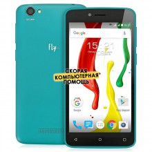 Смартфон Fly FS505 Nimbus 7 Black+Green , черно-зеленый